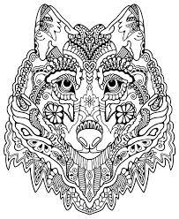 Awesome Wolf From Awesome Animals Mandala Kleurplaten