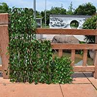 Bestlle Wooden Fence With Artificial Ivy Leaves Garden Plant Fence Uv Protected Privacy Screen Greenery Walls For Outdoor Indoor Backyard Home Decor Amazon Co Uk Kitchen Home