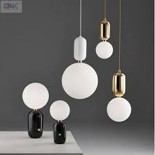 modern glass globe pendant lights white