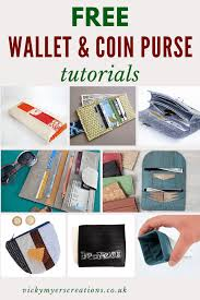 free wallet coin purse tutorials