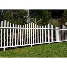 Amazon Com Zippity Outdoor Products Manchester Semi Permanent Vinyl Fence Kit 2 Pack 42 X 92 Garden Outdoor