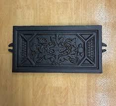 fireplace canopy cast iron tile panel