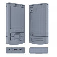 Nokia 6500 slide 3D Model in Phone and ...