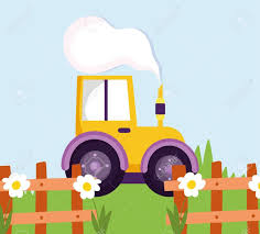 Tractor Truck Wooden Fence Flowers Grass Farm Cartoon Vector Illustration Aff Aff Aff Beautiful Flowers C In 2020 Farm Cartoon Wooden Fence Cartoons Vector