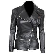 alabama slim fit leather jacket womens