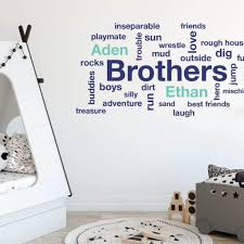 Personalized Wall Decals Brothers Room Decor Db171 Designedbeginnings