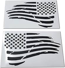 Amazon Com Pair Of Waving Usa American Flag Decal Sticker Die Cut Subdued Car Truck 4 X 7 Gloss Black Arts Crafts Sewing