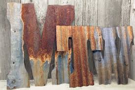 letters rustic metal wall decor