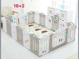 Cod Ok High Quality Gray And White Folding Playpen Baby Fence 16 2 Panels Babies Kids Others On Carousell