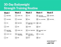 a 30 day strength routine