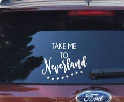 Take Me To Neverland Vinyl Decal Peter Pan Wendy Iron On Vinyl Sticker Coffee Mug Cup Yeti Decal Waterbottle Tumbler Car Stic Car Decals Vinyl Car Decals Vinyl