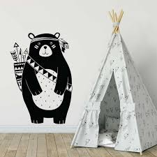 Indiana Bear Vinyl Wall Art Decal
