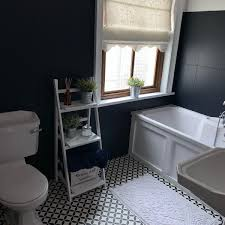 Florence Amelia S A Twitter My Lockdown Bathroom Makeover Is Almost Complete I Painted The Tiles In Picket Fence And Midnight Blue And I Have To Say Fusionmineralpaintuk Never Ceases To Amaze
