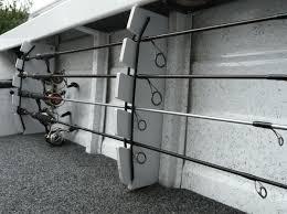 diy fishing boat rod storage rack