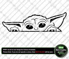 Star Wars Baby Yoda Car Van Funny Jdm Cute The Mandalorian Sticker Vinyl Decal Archives Statelegals Staradvertiser Com