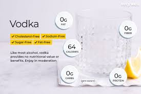 vodka nutrition facts calories and
