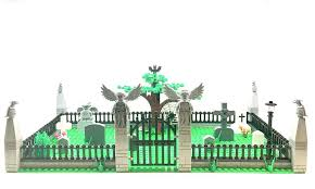 Large Graveyard Custom Cemetery Set Tombstone Halloween Zombie Blocks Custom Lego Wrought Iron Gate Graveyard