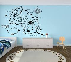 Wall Decal Sticker Bedroom Pirate Map Treasure Gold Island Etsy Wall Decal Sticker Wall Decals Pirate Maps