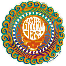 Grateful Dead Orange Sunshine Stealie Window Sticker Decal Peace Resource Project