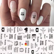 Mega Discount 69c8ff Letter Design 3d Nail Sticker Russian Series Transfer Beautiful Nail Art Accessories Decals Decoration Diy Adhensive Tips Paper Cicig Co
