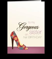Fab Birthday For My Sister Send This Greeting Card Designed By Spark Spark Card Gnome