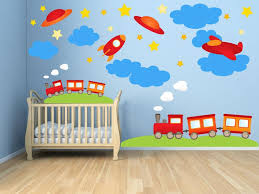 Train Transportation Airplane Wall Decals Kids Stickers Peel Etsy
