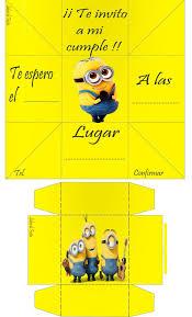 Caja Invitacion Minions Invitaciones De Caja Minions Para