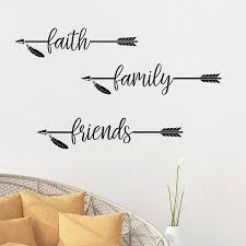 Winston Porter 3 Piece Faith Family Friends Vinyl Wall Decal Set Wayfair