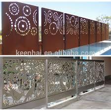 Sheet Metal Fence Decorative Decorative Aluminum Sheet Metal Fence Metal Solid Panel For Garden Fence Decor Metal Fence Panels Metal Fence