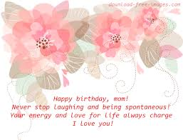 birthday wishes for mom white ecard