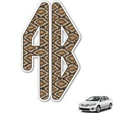 Snake Skin Monogram Car Decal Personalized Youcustomizeit