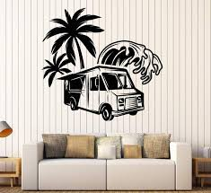Vinyl Wall Decal Food Truck Palm Wave Fast Food Stickers Unique Gift Wallstickers4you