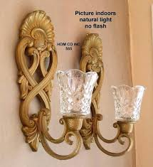 wall mount candle sconce wrought iron
