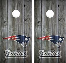 New England Patriots Vintage Wood Cornhole Board Decal Wrap Wraps Grey Ebay