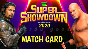 WWE Super Showdown 2020 Match card! - YouTube