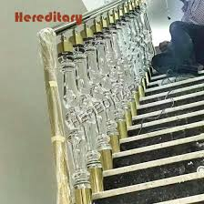 China Modern House Decorative Clear Acrylic Balustrade Ornamental Stair Railing China Acrylic Glass Railing Acrylic Stairs