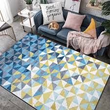 Fashion Nordic Geometric Carpet Yellow Blue Rugs Livingroom Bedroom Hallway Kids Room Carpet Bathroom Tapetes Customized Carpet Aliexpress