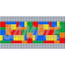 wall border set lego style blocks