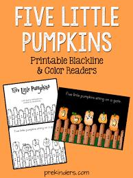 Five Little Pumpkins Printable Books Prekinders