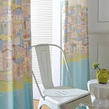 2020 Cartoon Curtain Countryside Style For Kids Room Living Room Semi Shade Window Curtain For Bedroom Print Village Fabric Home Decor From Bigmum 8 93 Dhgate Com