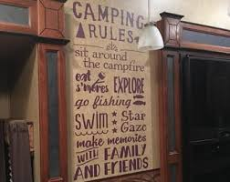 Camping Wall Decal Etsy