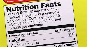 changes to nutrition facts