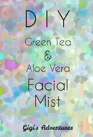 diy green tea aloe vera mist