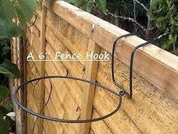 Fence Hooks 6 Plant Pot Hangers To Hang 6 Pots On Fences Ideal For Big Dreams Small Spaces Hanging Plants On Fence Fence Planters Backyard Fences