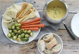 Emmental Fondue with Roasted Vegetables