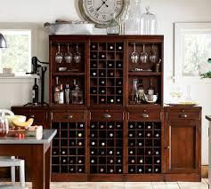 modular bar cabinet with 1 wine hutch