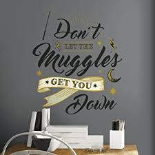 Roommates Harry Potter Muggles Quote Peel And Stick Giant Wall Decals Rmk3608gm Amazon Com