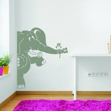 Shop Style And Apply Elephant And The Mouse Vinyl Wall Decal And Sticker Mural Art Home Decor Overstock 11976398