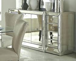 mirror over buffet in dining room