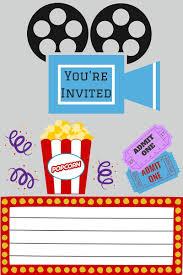Free Printables Fiesta De Cine Cumpleanos Cine Invitaciones De